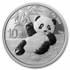 2020 Silver Chinese Silver Panda Coin 30 Gram 999 Fine Silver w/ Coin Capsule
