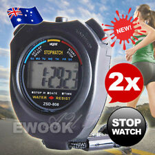 2X Digital Chronograph Jumbo Stopwatch Handheld Sports Counter Timer Stop Watch
