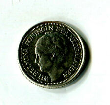 10 Cents Niederlande 1936 Wilhelmina Silber M_891