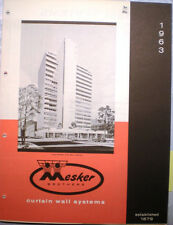 MESKER Brothers Catalog Cement ASBESTOS Curtain Walls Building Panels 1960's