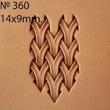 Leather stamp tool Weave for leather crafting crafts brass stamps  #360