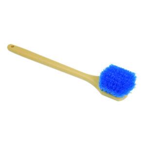 "Car Tire Wheel Wash detail Brush 20"" long straight Handle 2"" stiff bristle"