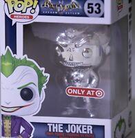 Funko Pop Batman Arkham Asylum THE JOKER Silver Chrome 2019 NYCC Target•Priority