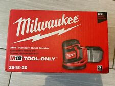 """NEW Milwaukee 2648-20 M18 18V 5"""" Variable Speed Random Orbital Sander Bare Tool"""