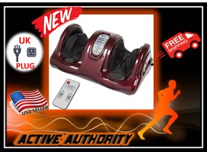 Active Authority KL-301Red Heating Shiatsu Foot Massager Kneading & Rolling NEW