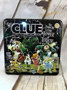 Disney Clue Tower of Terror Replacement Box Tin & Game Piece Holder ONLY