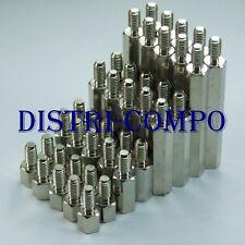 Entretoise métal mâle femelle M3 longueur 5 - 10 - 20 - 30mm (lot de 40)