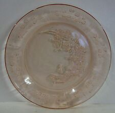 Lot of 12 Federal Glass SHARON-PINK Luncheon Plates VG