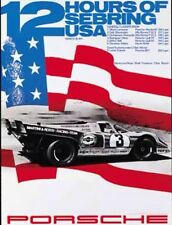 Porsche 917 1971 12hrs Sebring USA. Car Poster Licensed Reprint.Own It!