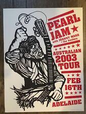 PEARL JAM POSTER 2/16/2003 TOUR AMES BROS ADELAIDE AUSTRALIA EDDIE VEDDER