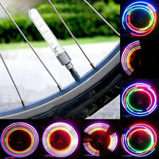 2x Car Motorcycle Bicycle 5 LED Flash Tyre Wheel Valve Cap Light Lamp New