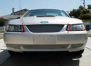 1999-2004 Ford Mustang GrillCraft Silver grille 1pc Upper MX grill FOR5015S