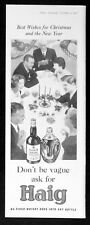 HAIG SCOTCH WHISKY 1957 Gold Label - Dimple - Drink  BRITISH ADVERT #1