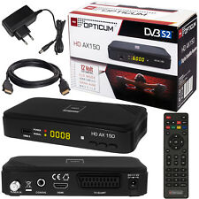 Full HD TV Digital Satellite Receiver Opticum Ax 150 DVB-S2 Easy Find USB + HDMI