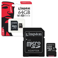 Kingston Micro SD SDXC memory Card Class 10 64GB Memory with SD card Adapter
