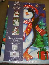 Gift Wrap in a SNAP New   3  pack