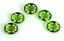 Gemstone Lot 9.75 Ct Olive Green Peridot Natural 5 Pcs Oval Cut AGSL Certified