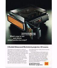 1977 Kodak EKTASOUND Moviedeck Movie Projector Vtg Print Ad