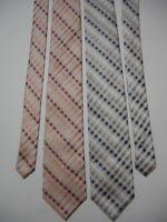 STAFFORD ESSENTIALS Men's Designer Executive Neck Ties Set of 2 Checks Stripes