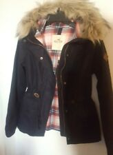 NWT  Hollister by Abercrombie & Fitch Wool Anorak Jacket Size Small Navy