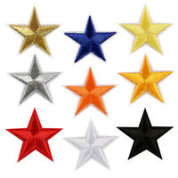 Lots 10PCS Star Embroidery Patch Applique Sew Iron On Badge Clothes Bags DIY