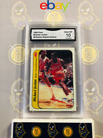 1986 Fleer Michael Jordan #8 Rookie Reprint Sticker 10 GEM MT GMA Graded Card