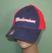 Red White & Blue Budweiser Beer Bottle Opener Baseball Style Hat Cap Adjustable