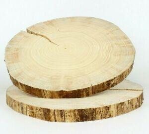 FICHTE Restposten Holzscheiben Baumscheiben Deko Floristik 2 St. 30-35 cm