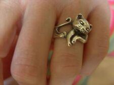 Anello argento massiccio a forma di gatto, HAND MADE by me. Taglia S-T