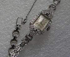 "14K gold & 92 diamond Lady's mechanical watch 18.5 gr. ""OLYMPIC"" Appraised $2200"