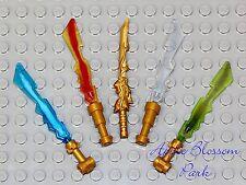 NEW Lego Ninjago Minifig 4 ELEMENTAL BLADES & DRAGON SWORD - Ninja Weapons 70505