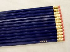 "12 Hexagon ""Dark Blue"" Personalized Pencils"