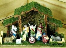 Traditional Wooden Christmas Nativity Scene Decoration by Kingfisher