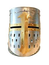 New Medieval Knight Crusader Armour Helmet Replica Reenactment FREE Liner