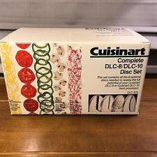 Used Cuisinart Partial 4 Disc Set DLC-8  DLC-10 DLC-870 DLC