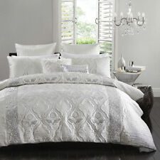 Logan and Mason Lopez Silver Queen Size Bed Doona Duvet Quilt Cover Set