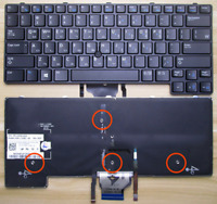 Backlit Keyboard with Pointer for Dell Latitude E6430U Laptop GVM53