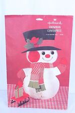 VTG Hallmark Honeycomb Snowman Centerpiece Table Decor Party Ideas Checklist