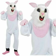 Easter Bunny Rabbit Costume Plush Mens Ladies Mascot Fancy Dress Outfit Adults
