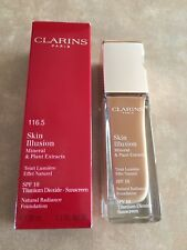NEW CLARINS SKIN ILLUSION SPF 10 Radiance Foundation Sunscreen #116.5 Coffee