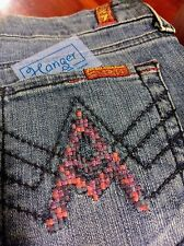 7 for All Mankind - A Pocket Flare Stretch Jeans - 7FAM Rare Pixelated A  26X32