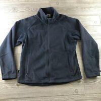 Columbia Women's Light Blue Fleece Full Zip Jacket Pockets Size Medium Soft