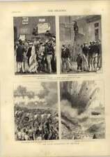 1873 República federal en España escenas callejeras Madrid explosión mina Chatham