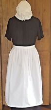 GIRLS VICTORIAN TUDOR EDWARDIAN POOR  MAID WAIST APRON & MOP CAP fancy dress 3/5