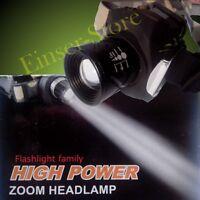 15W High End Cree LED Zoom Lámpara Cabeza Linterna, Batería Y Foco Muy Claro Luz