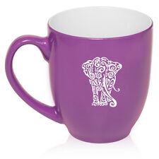 16oz Bistro Mug Ceramic Coffee Tea Glass Cup Tribal Elephant
