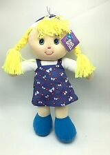 Rag Doll Golden Hair 15 inch ages 3+ Kids Toy Doll New