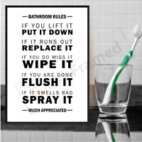Wall Art Pictures Bathroom Prints Black and White Funny Bathroom Toilet Wordart