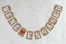 WE ARE ENGAGED Bunting Banner Wedding Bridal Party Hanging Decor Photo Props