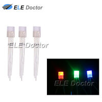 100 2x5x7mm Diffused RGB Light Common Anode Rectangle Square LED Diodes